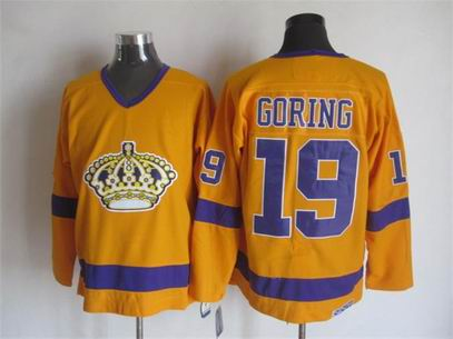 NHL Los Angeles Kings 19 Goring yellow jersey