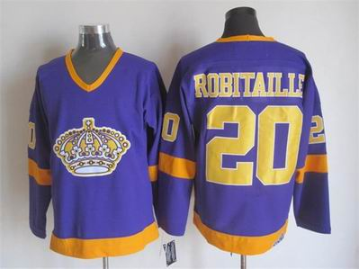 NHL Los Angeles Kings 20 Robitaille purple jersey