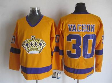 NHL Los Angeles Kings 30 Vachon yellow jersey