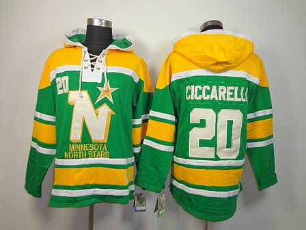 NHL Minnesota North Stars 20 Ciccarelli green Hoodies Jersey