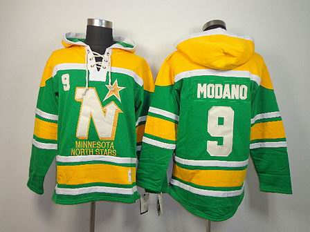 NHL Minnesota North Stars 9 Modano green Hoodies Jersey