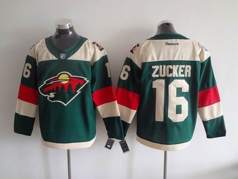 NHL Minnesota Wild #16 Zucker green jersey