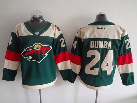 NHL Minnesota Wild #24 Dumba green jersey