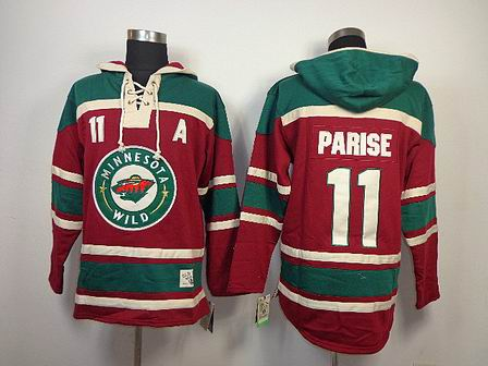 NHL Minnesota Wild 11 Parise red Hoodies Jersey