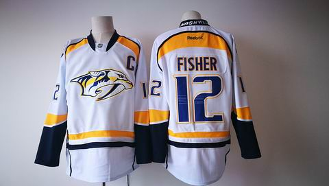 NHL Nashville Predators #12 FISHER white jersey
