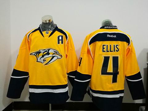 NHL Nashville Predators #4 ELLIS yellow jersey