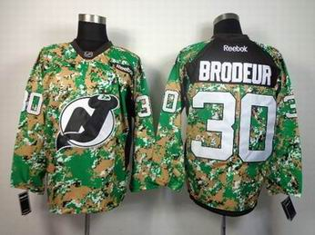 NHL New Jersey Devils 30 Brodeur camo jersey