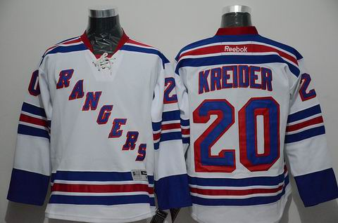 NHL New York Rangers 20 Kreider white jersey