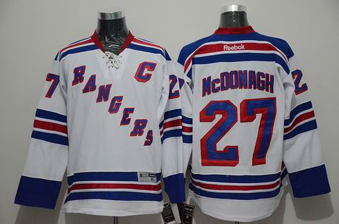 NHL New York Rangers 27 McDONAGH white jersey