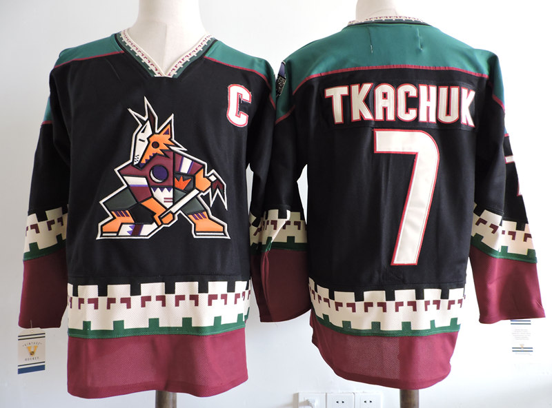 NHL Phoenix Coyotes #7 Keith Tkachuk black jersey