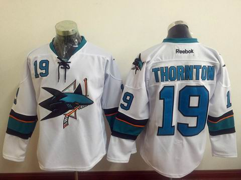 NHL San Jose Sharks #19 Joe Thornton White Jersey