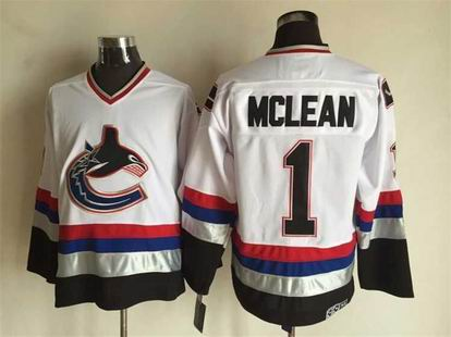 NHL Vancouver Canucks #19 Mclean white jersey