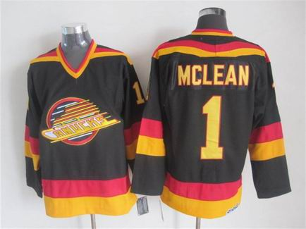 NHL Vancouver Canucks 1 Mclean black jersey