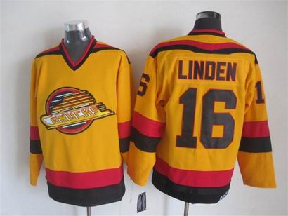 NHL Vancouver Canucks 16 Linden yellow jersey