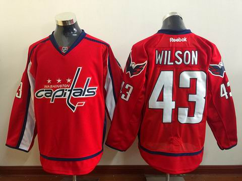 NHL Washington Capitals #43 Wilson red jersey