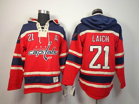 NHL Washington Capitals 21 Laich red Hoodies Jersey