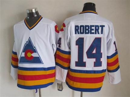 NHL colorado avalanche 14 Robert white jersey