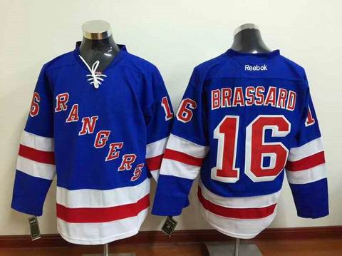NHL new york rangers #16 Brassard blue jersey
