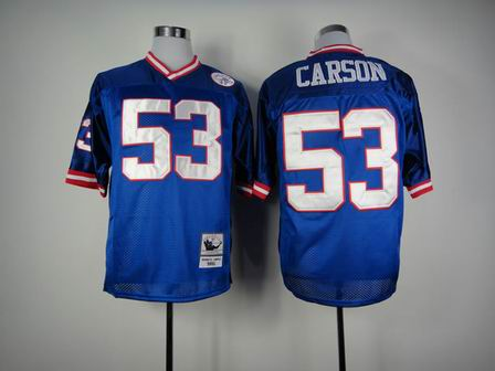 New York Giants 53# Carson blue throwback jersey
