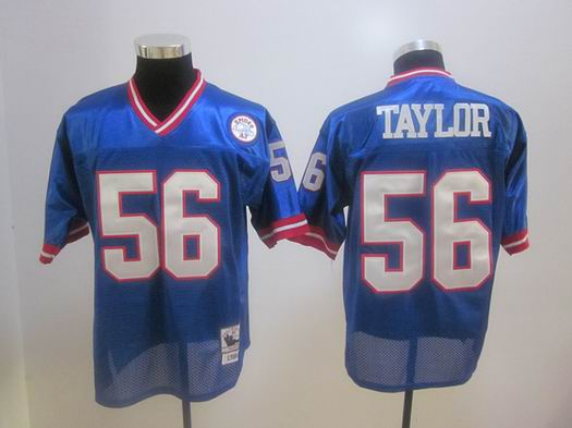 New York Giants 56 Lawrence Taylor blue Throwback Jerseys