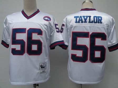 New York Giants 56 Lawrence Taylor white Throwback Jerseys