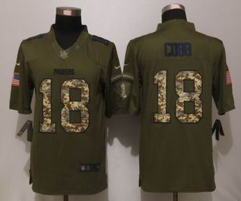 Nike Green Bay Packers 18 Cobb Green Salute To Service Limited Jersey