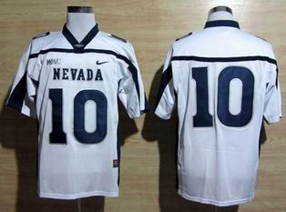 Nike Nevada Wolf Pack Colin Kaepernick 10 WAC Patch College Football white Jersey