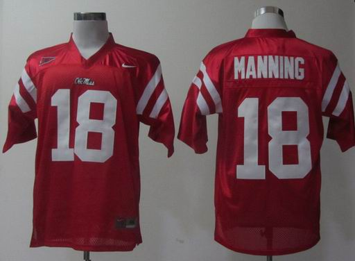 Nike Ole Miss Rebels Achie Manning 18 Red College Football Jersey