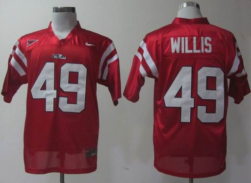 Nike Ole Miss Rebels Patrick Willis 49 Red College Football Jersey
