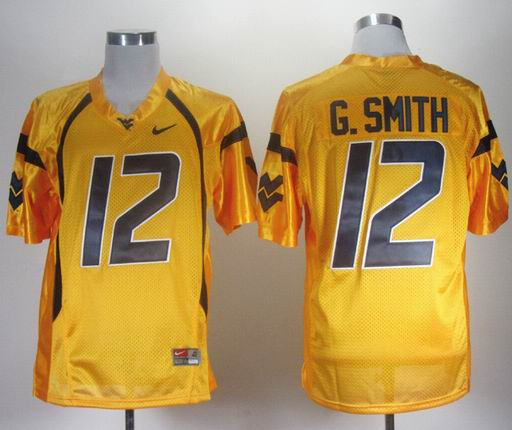 Nike West Virginia Mountaineers Geno Smith 12 Gold College Football Jersey