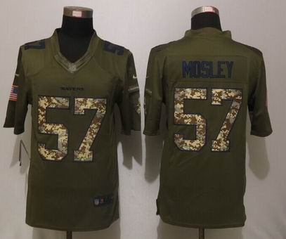 Nike nfl Baltimore Ravens 57 Mosley Green Salute To Service Limited Jersey