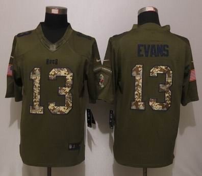 Nike nfl Buccaneers 13 Evans Green Salute To Service Limited Jersey