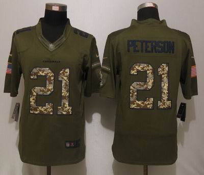 Nike nfl Cardinals 21 Peterson Green Salute To Service Limited Jersey