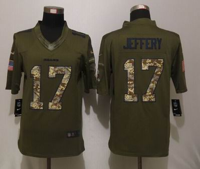 Nike nfl Chicago Bears 17 Jeffery Green Salute To Service Limited Jersey