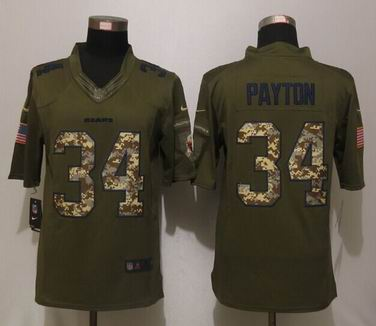 Nike nfl Chicago Bears 34 Payton Green Salute To Service Limited Jersey
