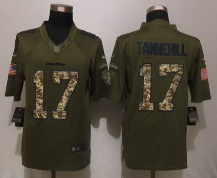 Nike nfl Miami Dolphins 17 Tannehill Green Salute To Service Limited Jersey