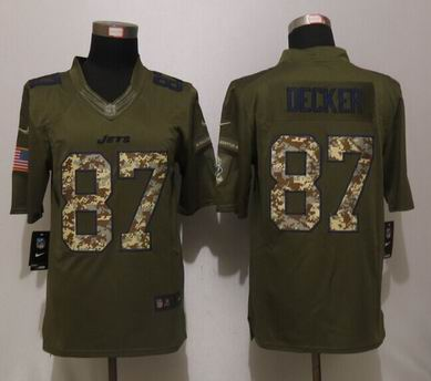 Nike nfl New York Jets 87 Decker Green Salute To Service Limited Jersey