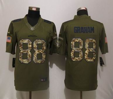 Nike nfl Seattle Seahawks 88 Graham Green Salute To Service Limited Jersey