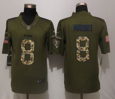 Nike nfl Tennessee Titans 8 Mariota Green Salute To Service Limited Jersey