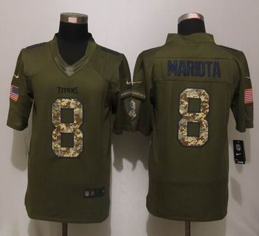 Nike nfl Tennessee Titans 8 Mariota Green Salute To Service Limited Jerseys