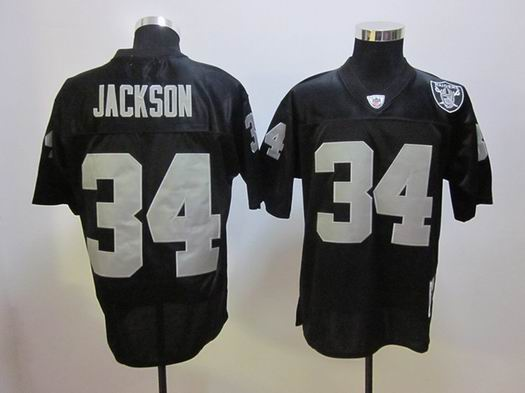 Oakland Raiders 34 Jackson black throwback Jersey