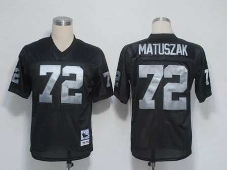 Oakland Raiders 72 Matuszak Black throwback Jersey
