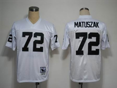 Oakland Raiders 72 Matuszak white throwback Jersey