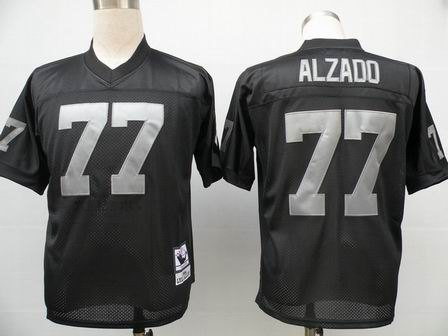 Oakland Raiders 77 Alzado Black throwback Jersey