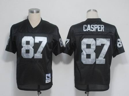 Oakland Raiders 87 Casper black throwback Jersey