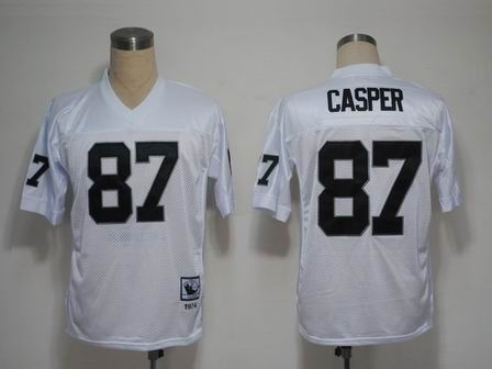 Oakland Raiders 87 Casper white throwback Jersey