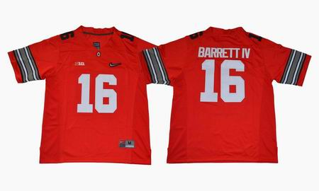 Ohio State Buckeyes #16 Barrett IV College Football Jersey Red
