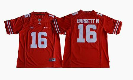 Ohio State Buckeyes #16 J.T. Barrett IV College Football Jersey Red