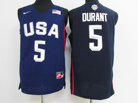Olympic Basketball USA #5 Durant blue jersey