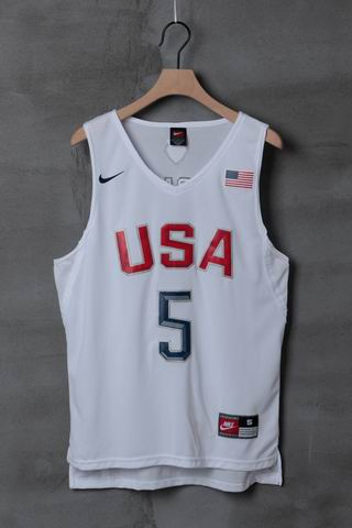 Olympic Basketball USA #5 Durant white jersey